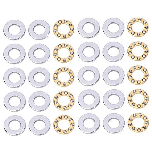 Rodamientos Axiales de Bolas de Alta Precisión y Alta Eficiencia Rodamientos de Acero Plano de Alta Velocidad Set 10PCS(F6-14M 6 * 14 * 5mm(10pcs))