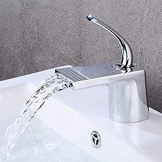 ? Basin Faucet Black Brass Chrome Color Bathroom Faucet Cascata Sink Mixer Single Lever Mixer Single Hole Tap Torneira