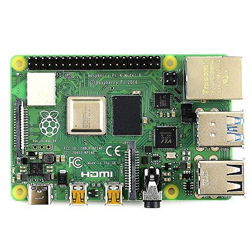 Janhiny Raspberry Pi 4 Model B Entwicklungsplatine Erweiterungs-Motherboard mit BCM2711B0 SOC ARM Cortex-A72 Quad-Core-CPU 4 GB Speicher