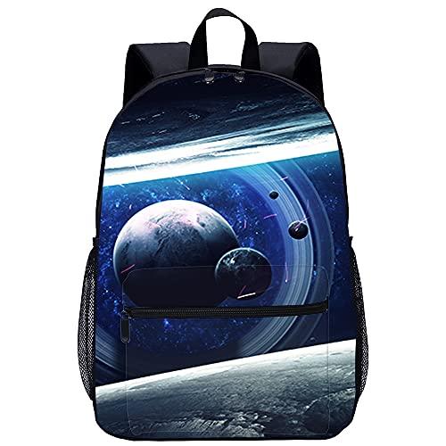 Mochila Infantil con 3D mochila Arte cósmico, papel tapiz de ciencia ficción. B Adecuado para: estudiantes de primaria y secundaria, la mejor opción para viajes al aire libre Tamaño: 45x30x15 cm   1