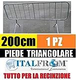 ITALFROM TRANSENNA Ferro ZINCATO Transenne Barriere STRADALI Recinzione cm 200x110 H