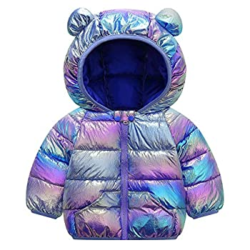 Baby Boys Girls Winter Coats Warm Soft Puffer Down Jacket Cotton Padded Hooded Coat for Newborn Infant Toddler Kids Outwear  Purple 3T