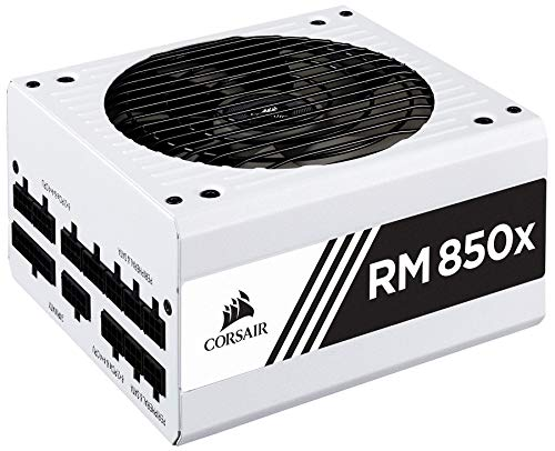 CORSAIR RMX White Series (2018), RM850x, 850 Watt, 80+ Gold Certified, Fully Modular Power Supply - White