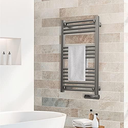 Cecotec ReadyWarm 9100 Smart Towel Steel Porte-serviettes électrique 500 W, Gris foncé