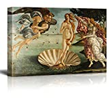wall26 Birth Of Venus by Botticelli Giclee Canvas Prints Wrapped Gallery Wall Art   Stretched and Framed Ready to Hang - 16' x 24'