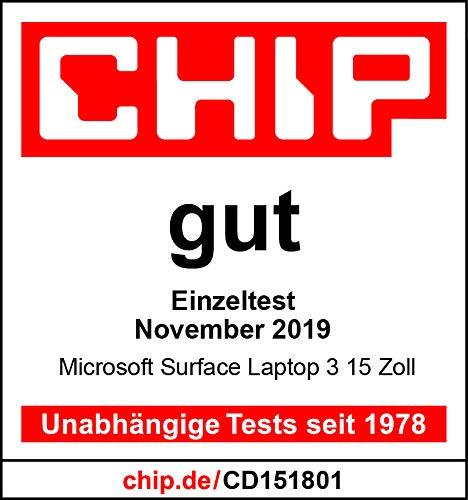 Microsoft Surface Laptop 3, 15 Zoll Laptop (AMD Ryzen 5 3580U, 8GB RAM, 256GB SSD, Win 10 Home) Platin