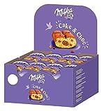 Milka Cake & Choc Un format poche facile à emporter Présentoir de 24 gâteaux Idéal pour vos fêtes et goûter