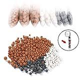 Vicloon Bolas Minerales, 9 Packs Iones Negativos de Bolas de Mineral, Adecuado para filtro iónico para cabezal de ducha, purifica el agua de la ducha que rejuvenece la piel y el cabello