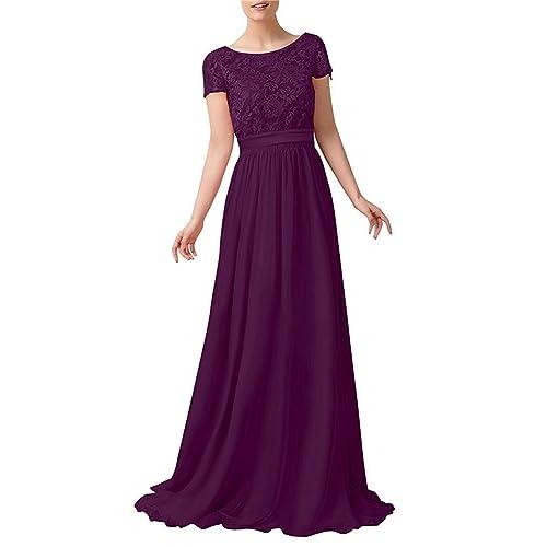 Plum Color Long Dress Amazon Com
