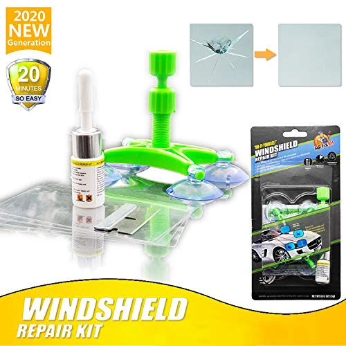 poi Autoglas Nano Reparaturfl/üssigkeit Autofensterglas Crack Chip Repair Tool Kit
