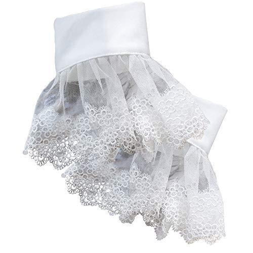 YAKEFJ Handgelenk Manschetten Mode Spitze Plissee Horn Abnehmbares Hemd Gefälschte Armband Manschetten Handgelenk Manschetten für Frauen