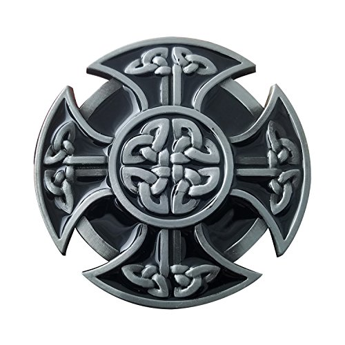 QUKE American Mens Keltic Irish Scottish Celtic Cross Celtic Knot Belt Buckle
