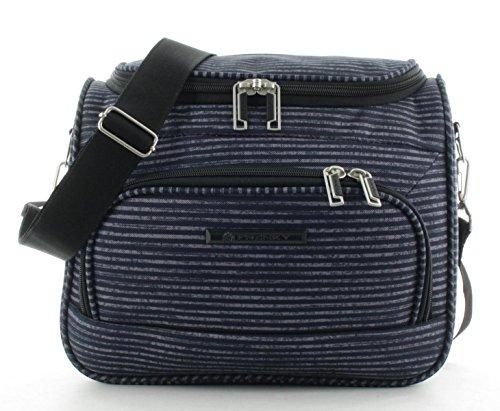 Franky Beautycase Handgepäck BC Blue Stripe