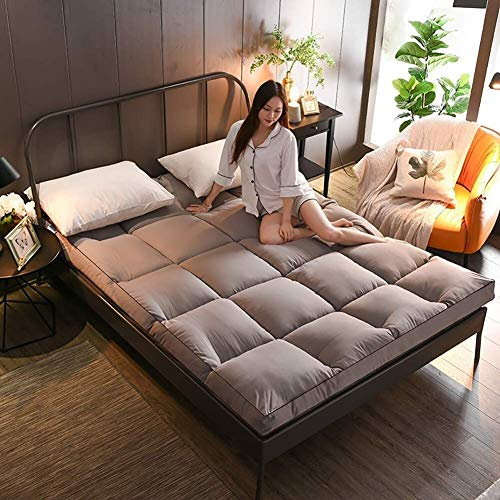 GONGFF Thickened Mattress 10 Cm Thick, Mattress Pad,Folding Tatami Mattress, Bedroom Student Double Bed Twin Futon Bedroom Nicho Sleeping Mat (Color : D, Size : 180×200cm)