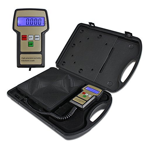 ZENY Electronic Digital Refrigerant Charging Weight Scale for HVAC A/C 220 Lbs with Case
