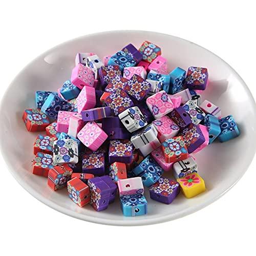 TGBN 50 Uds Collar de Bricolaje de Colores Mezclados Fruta Animal Arcilla polimérica Cuentas espaciadoras Pulsera Pendientes fabricación de hallazgos