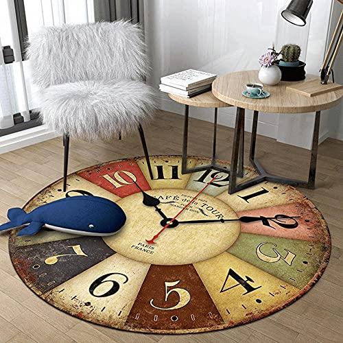 Tapis Nordic Rond Tapis Chambre Chambre Tapis Minimalisme Moderne Minimalisme Anti-Glissement Tapis 80/100/120/140/160/120 / 200cm pour Salle de séjour SOCIO Rapide-120 * 120cm