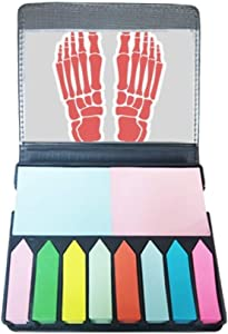 Human Body Illustration Bone Foot Self Stick Note Color Page Marker Box
