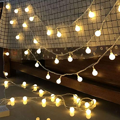 LED Flower Global String Lights Christmas Holiday Lighting Fairy Lights Outdoor Battery Party Wedding Christmas Decoration Night Light Battery 3m30 LEDs