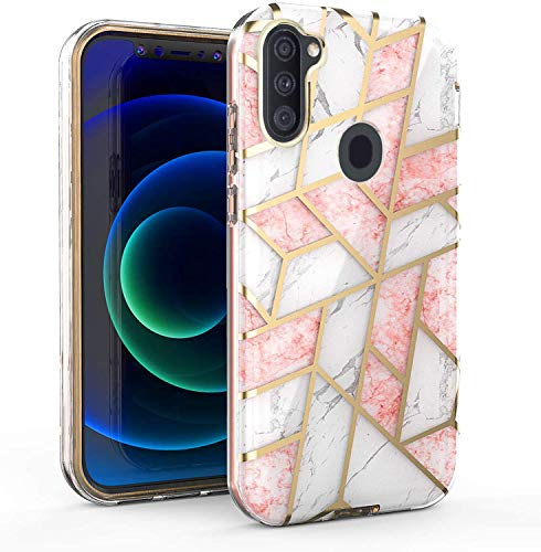 ATUS Design Royal Series Case Compatible with Galaxy A11, Slim Fit Cover with Elegant Pattern (Marble A11)