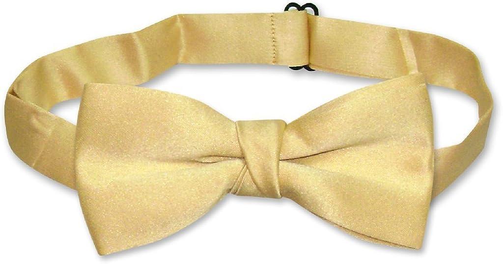 Covona BOY'S BOW TIE Solid GOLD Color BowTie