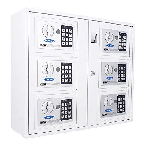 Rottner Schlüsselausgabesystem KeySystem 6 – Elektronikschloss + Zylinderschloss, Schlüsseleinwurf, zur Wandbefestigung