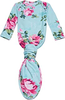 Posh Peanut Newborn Baby Soft Gown for Girls - Viscose from Bamboo Infant Layette Swaddle Wear