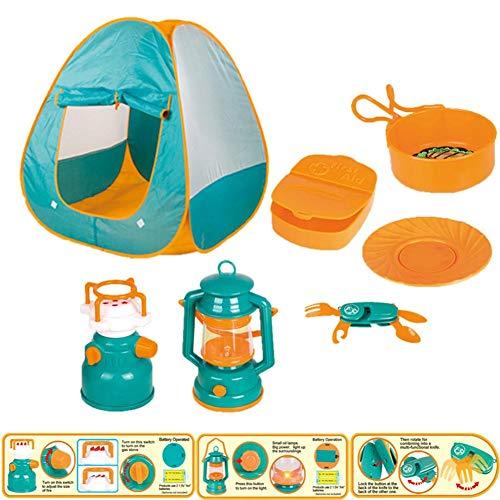 Dedeka Juego de Carpa para niños, Juego de Explorador, Juego de Herramientas de Equipo de Acampada, Incluyendo walkie Talkie y Otras Herramientas de Campamento