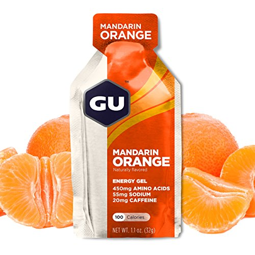 GU Energy Original Sports Nutrition Energy Gel Mandarin Orange 8 Count