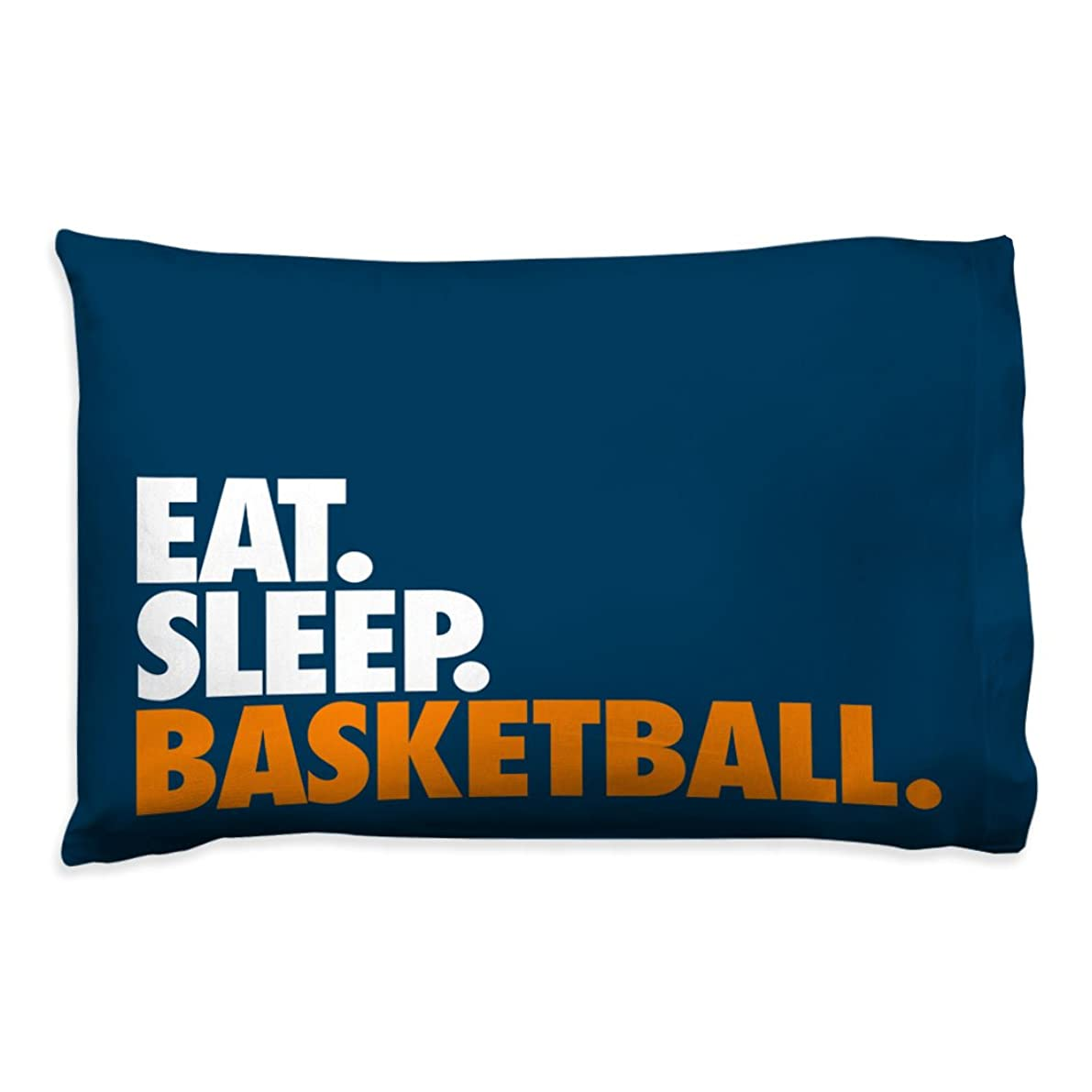 Eat Sleep Basketball Pillowcase | Basketball Pillows by ChalkTalk Sports | Navy
