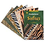 Fadeless  Safari Prints Paper, 6 Assorted Patterns,  12' x 18', 24 Sheets