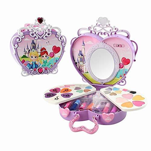 GoolRC Dress-Up Toy Trucco Scatola cosmetica con luci a Specchio Fai Finta di Giocare Kit di Cosmetici per Ragazze Giocattoli ambientali Giocattolo di Sicurezza di Bellezza per Bambini ¡