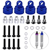 Hobbypark Aluminum Shock Caps (fits Ultra Shocks) Replacement of 3767A 3767X for Traxxas RC Car ,Set of 4 (Navy Blue)