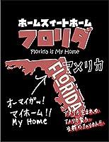 【FOX REPUBLIC】【フロリダ アメリカ 地図】 黒マット紙(フレーム無し)A2サイズ