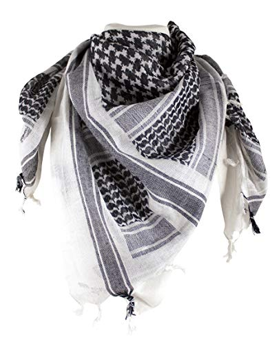 Shemagh Head Wrap White/BLK