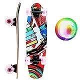 Skateboards Complete Mini Cruiser Skateboard for Beginner Boys and Girls (red)