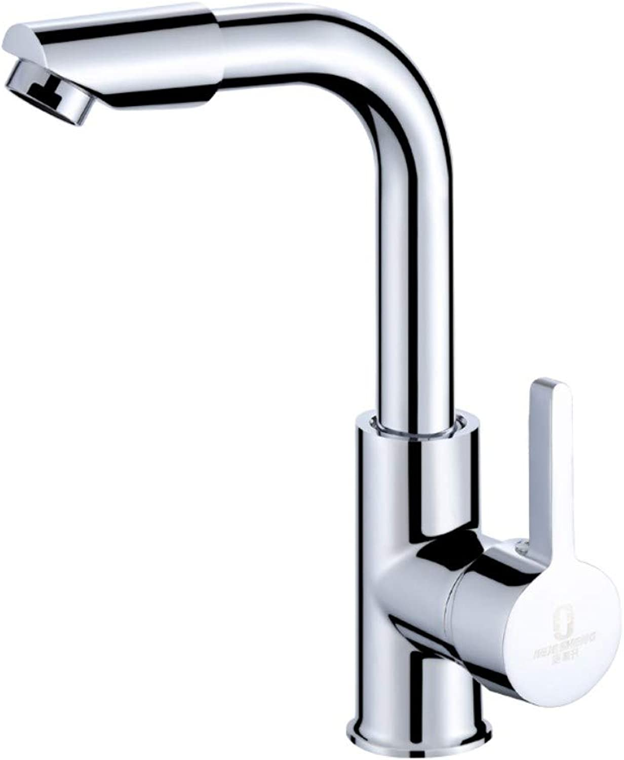 Faucet hot and cold single hole bathroom basin basin 360 degree redating faucet