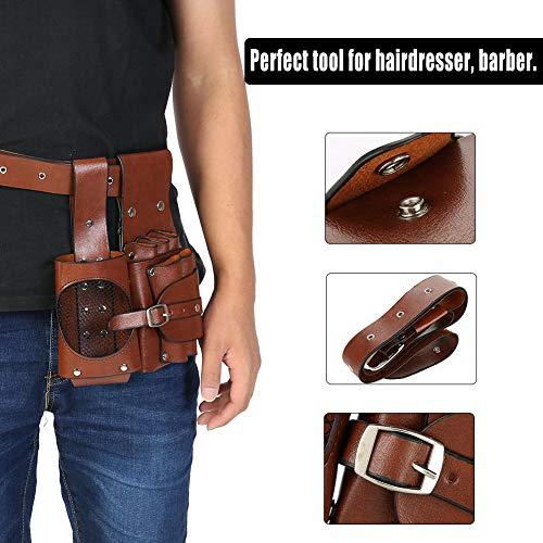 Bolsa de Herramientas de Peluquería Profesional, Estilista Cinturón de Cintura de Contenedor de Múltiples Funciones para Tijeras y Peine y Clip
