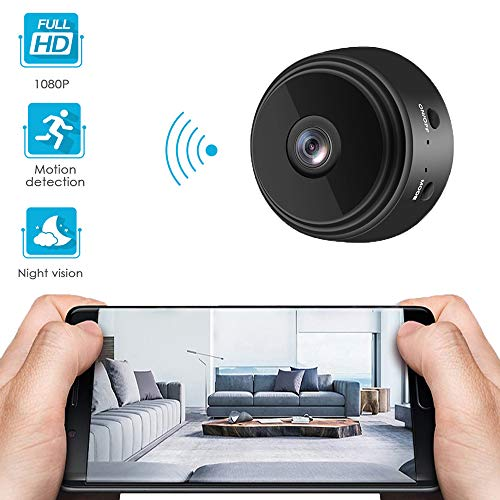 Mini Spy Camera,1080P HD spy Camera Wireless Hidden,WiFi Camera,Small Outdoor Home Security Surveillance Cameras,Mini Camera spy Wireless with Audio,Black.