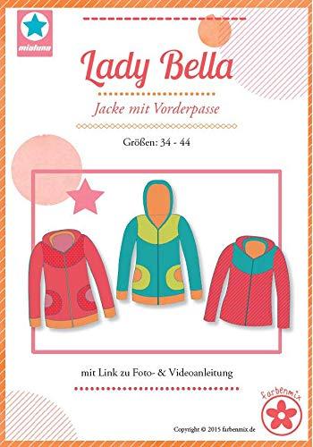 Lady Bella Schnittmuster (Papierschnittmuster für die Größen 34-44) Jacke mit Vorderpasse