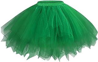 Lazzboy Donna tutù Gonna Tulle Party Club Sottogonne Retro Vintage Sottogonne Rockabilly Mini Gonne