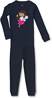 Tooth Fairy Hot Pink B Cotton Crewneck Boys-Girls Sleepwear Pajama 2 Pcs Set