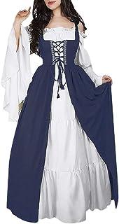 Top Homie レディース 北欧 エレガント ロングドレス マキシ 大きいサイズ 女性 中世 くびれ 演奏服装 演劇 ステージ 舞台衣装 コスチューム ドレス