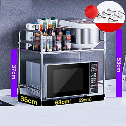 ZXL Keukenrek van roestvrij staal, comfortabel, vers en comfortabel, keuken, woonkamer, badkamer, Strato 2, magnetron, plank, piano, tafel, kruiden, opbergen, oven, Rac