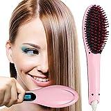 MaisonKlee Cepillo Alisador, Peine Pelo Alisador Plancha Electrónico LCD Digital Cepillo de Pelo Profesional Alisador Pelo Hair Straightener para Enderezar el Pelo Antiestático Antiescaldadura(Rosa)