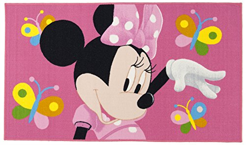 Tappeto per bambini Disney MINNIE BUTTERFLY cm 100x170