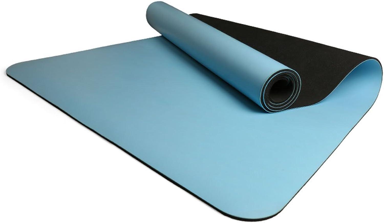 QIDI Yogamatte Gummi rutschfest Fitness Aerobic Zusammenklappbar 183  68  0,5cm (Farbe   T-5)
