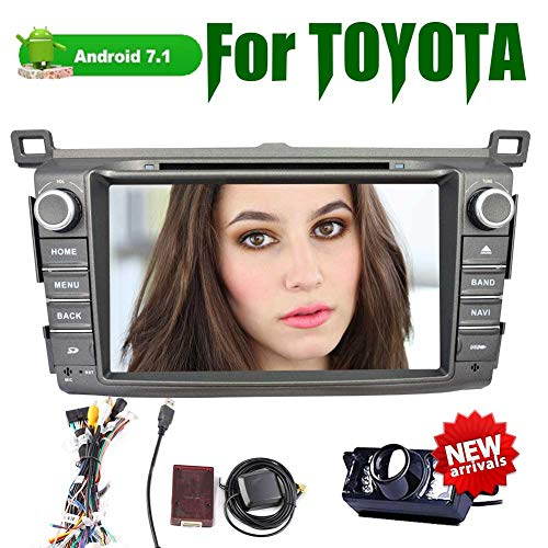 Eincar 8 Zoll Android 7.1 Quad-Core-Auto-DVD-Radio Doppel 2 Din Stereo mit Autoradio Bluetooth für Toyota RAV4 2013-2014 Unterstützungs-GPS-Navigation BT 3G / 4G WiFi CAM-IN OBD2 1080P DAB + Full TA