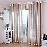 FCXBQ Cortina de Estilo mediterráneo Productos terminados Moderno Chenille Living Comedor balcón Ventana Flotante, 250, d