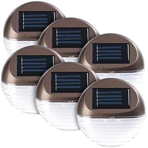 Lunartec Solarleuchten Hauswand: 2er-Set 3X Solar-LED-Zaunleuchten für Hauswand & Treppe, IP44 (Solarleuchten Zaun)